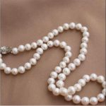 9-10mm south sea natural white pearl <b>necklace</b> 18inch beautiful 925 <b>silver</b> CLASP >>> women jewerly Free shipping