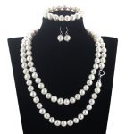 SNH off round 11mm A Bracelet & Necklace & <b>Earrings</b> 925 sterling <b>silver</b> Natural Cultured Freshwater Pearl Jewelry Sets