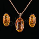 Jenia Unique Design Rose Gold Color Yellow Stone <b>Jewelry</b> Sets Antique Drop Earrings and Pendant Set XS181