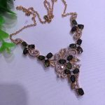 Natural dark blue sapphire Necklace Natural Gemstone Pendant Necklace 925 sliver women Luxury trendy Flowers women party <b>Jewelry</b>