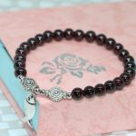 Free shipping new original design women bracelets natural garnet round beads 6mm elegant fashion <b>jewelry</b> <b>making</b> B2101