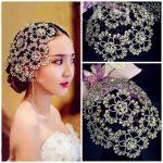 Vintage Silver Prom Pageant Round Crowns Rhinestone Flower Bridal Hair <b>Jewelry</b> Bridal Headpiece Tiara Wedding Hair Accessories