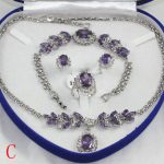 Prett Lovely Women's Wedding Beautiful woman ZIRCONIA GEM fashion <b>jewelry</b> set necklace bracelet earrings ring mujer brincos for