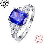J.C Pretty Sapphire Blue & Tanzanite & White Topaz 925 <b>Sterling</b> <b>Silver</b> Ring Size 6 7 8 9 For Women Men Engagement Fine <b>Jewelry</b>