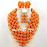 <b>Handmade</b> Orange Women Costume Nigerian Wedding Balls Bridal <b>Jewelry</b> Set African Beads <b>Jewelry</b> Set 2017 New Free Shipping ABY647