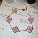 Pure 925 Sterling <b>Silver</b> <b>Jewelry</b> For Women Wedding <b>Jewelry</b> Four Leaf Clover Bracelet Big Clover Bracelet 5 Flower Bangle 15MM