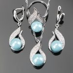 Natural Freshwater High Quality 925 Sterling Silver Pearl 3PCS Wedding <b>Jewelry</b> Sets For Women Earrings/Pendant/Necklace/Rings