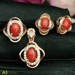 KJJEAXCMY Boutique jewels 925 pure <b>silver</b> inlaid large natural red coral female pendant pendant ring 3 sets of gold.