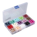 1 Box Imitation Plastic Pearls Beads <b>Handmade</b> <b>Jewelry</b> Making Material Accessories Findings Baby Girls Pearl <b>Jewelry</b> Beads