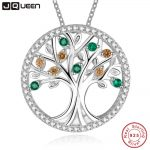 Tree Of Life 925 Sterling <b>Silver</b> Long <b>Necklace</b> for Women Vintage Morganite Gemstone Multilayer Pendant <b>Necklace</b> Female Jewelry