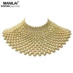 MANILAI Brand Indian <b>Jewelry</b> <b>Handmade</b> Beaded Statement Necklaces For Women Collar Beads Choker Maxi Necklace Wedding Dress