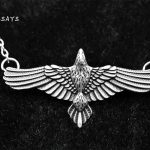 MCSAYS Norse Viking <b>Jewelry</b> Viking Flying Crow Rave Pendant <b>Antique</b> Silver-Color Powerful Eagle Necklace Amulet <b>Jewelry</b> Gift 4SL