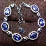 Elegant fashion round chess natural blue tanzanite <b>Bracelet</b> Natural gemstone <b>bracelet</b> S925 <b>silver</b> woman girl party gift jewelry