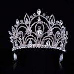 New Crystal Royal Big Drip Tiara Crown Princess Pageant Prom Vine Wedding Headband Bridal Head Tiaras Hair <b>Jewelry</b> T-033