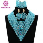 Latest <b>Silver</b> Seed Beads Indian Bridal Jewelry Sets Wedding Statement Necklace for Women Lace Jewelry Set Free Shipping ABL032