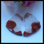 Natural Gemstone ,Nugget Warring States Red Agate <b>fashion</b> woman Earrings Beads,34x33x3mm,10.7g