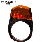 Fashion Punk Rings For Men Women Wooden Resin Rings <b>Handmade</b> <b>Jewelry</b> Gifts 2017 Magical Worlds Rings Transparent Resin Wood Ring