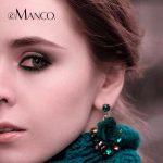 eManco Romantic Drop Dangle Hanging Earrings for Women Trendy Plants Flower Green Crystal Earring <b>Fashion</b> Brand <b>Jewelry</b>