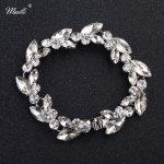 Miallo 2018 Newest Fashion Austrian Crystal Charm Bracelets Wedding <b>Jewelry</b> <b>Accessories</b> Plant Style Women Bracelets & Bangles