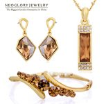 Neoglory MADE WITH SWAROVSKI ELEMENTS Crystal African Beads <b>Jewelry</b> Set Wedding Charm Gifts 2017 New JS9 G1