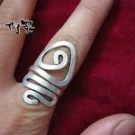 Guizhou Miao silver <b>jewelry</b> ethnic style <b>handmade</b> Miao silver female ring around <b>handmade</b> original