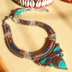 TNL583 Nepal Indian copper inlaid Colorful Stone Big Pendant <b>Necklace</b> Multi Statements Tibetan <b>jewelry</b>
