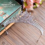 Full Clear AAA Cubic Zirconia Hair Crown Queen Coronet Brides <b>Wedding</b> Prom Princess Hair Tiaras Crown Bridal Hair <b>Jewelry</b>