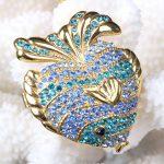 Ocean Fish <b>Jewelry</b> Box Fish <b>Handmade</b> Jeweled Metal Trinket Box Luxury <b>Jewelry</b> Box Organizer
