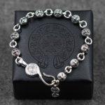 925 <b>Sterling</b> <b>Silver</b> Retro Cross Crusade bracelet For Women&Men Resizable Vintage Punk Rock Style Fashion Thai <b>Silver</b> <b>Jewelry</b>