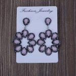 KEJIALAI Luxury <b>Handmade</b> <b>Jewelry</b> Opal Water Drop Crystal Pave Rhinestone Big Hyperbole Long Drop Dangle Earrings For Women