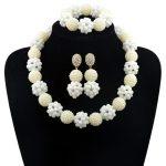 NEW nigerian wedding White African beads <b>jewelry</b> set beads bride <b>jewelry</b> Nigerian Beads <b>Necklace</b> Set AAA3
