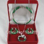 Free Shipping Mixed-Jades 925 Sterling <b>Silver</b> <b>Earring</b> Bracelet Necklace Set>>> women jewerly Free shipping