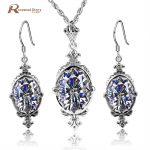 Genuine 925 Sterling <b>Silver</b> Jewelry Set Classic Vintage Cubic Zirconia CZ Jewelry Sets 925 Sterling <b>Silver</b> For Women Wedding