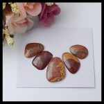Gemstone Multi-Color Picasso Jasper <b>fashion</b> Necklace Cabochon,Semiprecious stone earring,21x16x4mm,16x12x3mm,6g