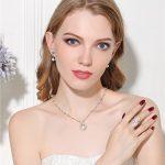 MeiBaPJ 925 Sterling <b>Silver</b> Jewelry Set Genuine Freshwater Pearl <b>Earrings</b>/Ring/Pendant Necklace For Women Wedding Jewelry