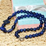 High-grade Lapis lazuli natural stone beautiful round beads diy European <b>Jewelry</b> Necklace <b>making</b> 18 inch A07