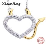 100% 925 sterling silver diy design love heart pendant chain necklace with CZ European fashion <b>jewelry</b> <b>making</b> for women gifts