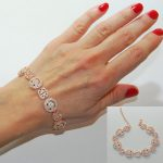 2017 Russia <b>Fashion</b> Beautiful gold silver rose high quality adjust size happy face link Bling micro pave bracelet