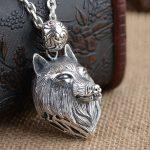 FNJ 925 <b>Silver</b> Wolf Pendant New Fashion Punk Animal 100% Original S925 Thai <b>Silver</b> Pendants for Women Men <b>Jewelry</b> Making