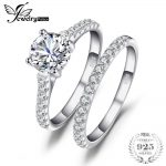 JewelryPalace Wedding and Bridal Cubic Zirconia Solitaire Ring Set 925 Sterling Fine <b>Jewelry</b> For Women Birthday Present For Mom