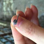Natural dark blue sapphire gem Ring Natural gemstone Ring 925 sterling <b>silver</b> trendy elegant round tension women Office <b>Jewelry</b>