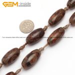 Gem-inside Olivary Coffee Vintage Dzi Beads Tibet Agates Beads For <b>Jewelry</b> <b>Making</b> Beads DIY Beads Trinket Jewelery