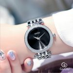 GUOU Watch Fashion Exquisite Quartz Women Watches Top Luxury Band <b>Silver</b> Steel <b>Bracelet</b> Watch Women reloj mujer relogio feminino
