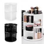 <b>Fashion</b> 360-degree Rotating Makeup Organizer Box Brush Holder <b>Jewelry</b> Organizer Case <b>Jewelry</b> Makeup Cosmetic Storage Box