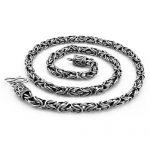 Man <b>silver</b> pendant New fashion men sterling <b>silver</b> <b>necklace</b>.6mm 66cm solid 925 <b>silver</b> <b>necklace</b>.Retro man Thai <b>silver</b> <b>necklace</b>