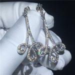Fine <b>Jewelry</b> Drop Earring 925 sterling silver Pave setting AAAAA Cz Engagement <b>wedding</b> Dangle Earrings for women Bridal Gift