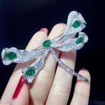 green color 925 <b>sterling</b> <b>silver</b> with cubic zircon dragonfly brooch pins fashion women <b>jewelry</b> free shipping