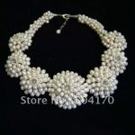 Fabulous Freshwater Pearl Fancy Necklace Natural Rice Pearl Chokers Necklace Handmade Pearl <b>Wedding</b> <b>Jewelry</b> Hot FP471