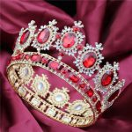 Large Queen King Pageant Crown for <b>Wedding</b> Tiaras and Crowns Big Hair band Crystal Rhinestone Prom Party Headdress Hair <b>Jewelry</b>