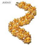 Premium Gem Pearl Necklacef Women Chains Popular Pearl Jewelry For Necklace Yellow Crystal Gem <b>Silver</b> <b>Bracelets</b>